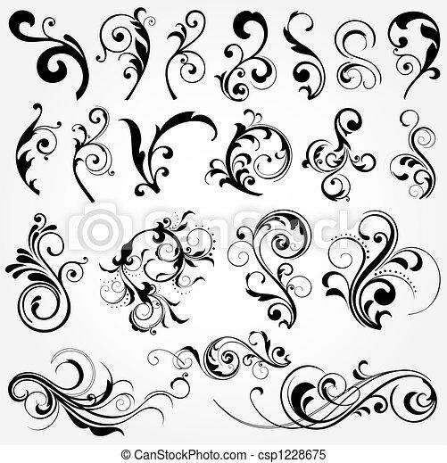 éléments floraux, conception - csp1228675