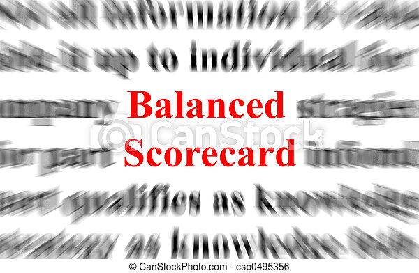 équilibré, carte score - csp0495356