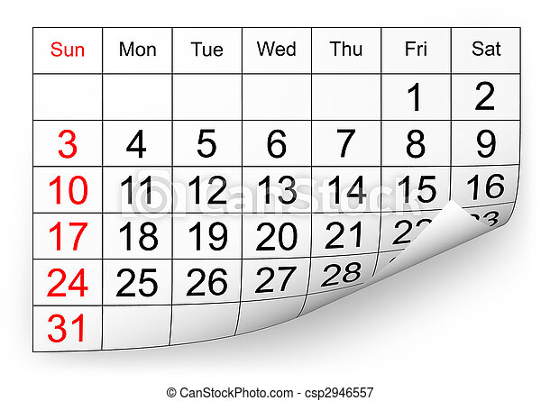 2010, calendrier, janvier - csp2946557