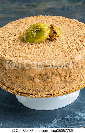 above., bavarois, vue, mousse, cake. - csp35057789