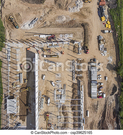 above., construction, coup, site - csp39625165