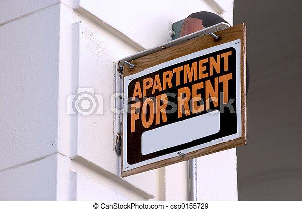 appartement, signe loyer - csp0155729