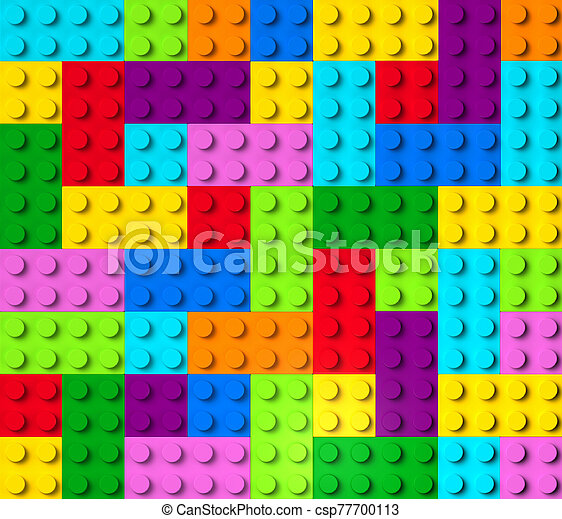 bâtiment, 3d, coloré, blocs, vue dessus - csp77700113