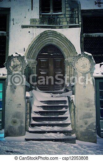 bâtiment, ancien, extérieur - csp12053808
