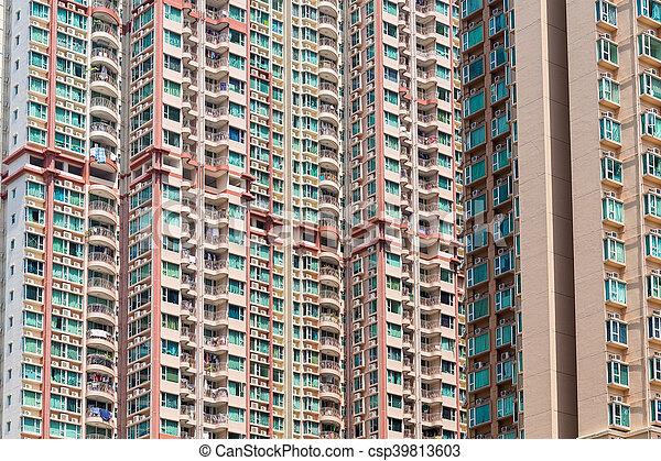 bâtiment, appartement, extérieur - csp39813603