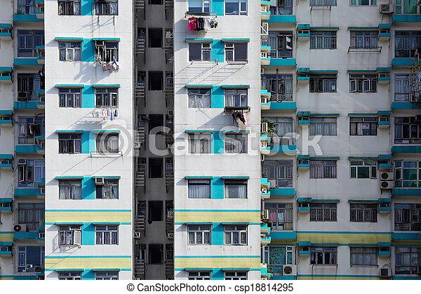 bâtiment, appartement, extérieur - csp18814295