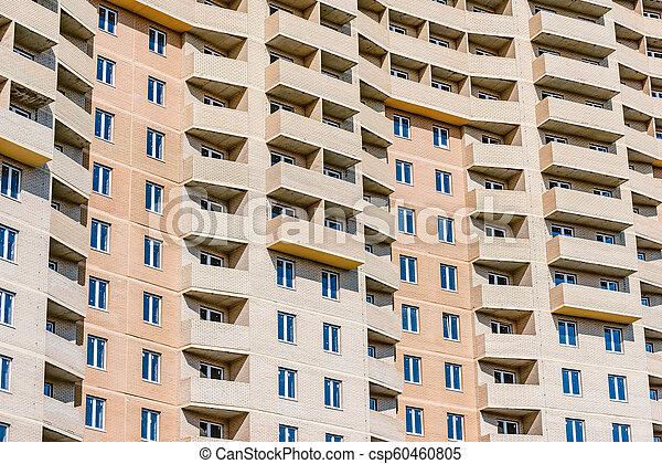 bâtiment, appartement, extérieur, sous, nouveau, construction. - csp60460805