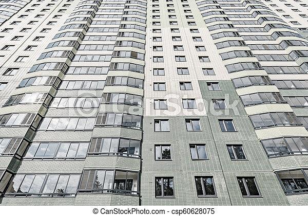 bâtiment, appartement, extérieur, sous, nouveau, construction. - csp60628075