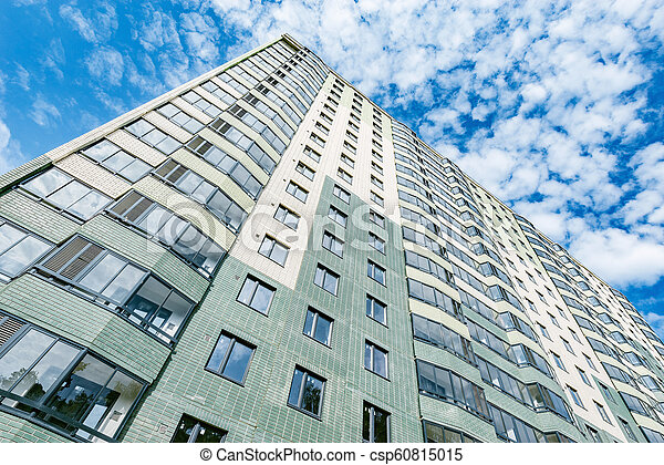 bâtiment, appartement, extérieur, sous, nouveau, construction. - csp60815015