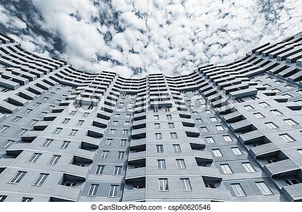 bâtiment, appartement, extérieur, sous, nouveau, construction. - csp60620546