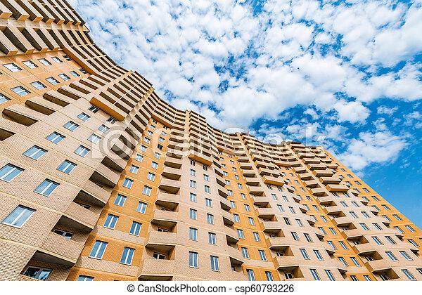 bâtiment, appartement, extérieur, sous, nouveau, construction. - csp60793226