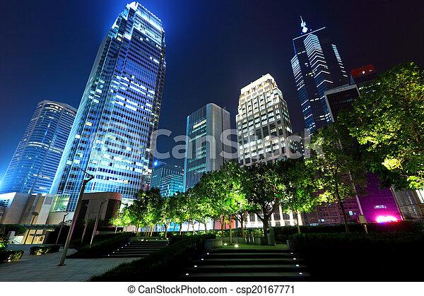 bâtiment, bureau, nuit - csp20167771