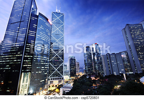bâtiment, bureau, nuit - csp5720831