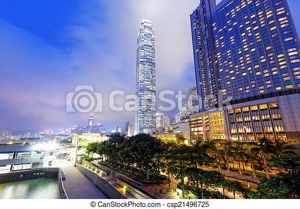 bâtiment, bureau, nuit - csp21496725