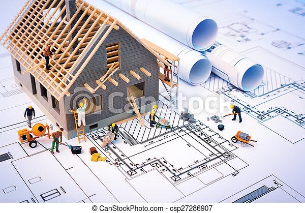 bâtiment, maison, modèles - csp27286907