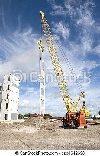 bâtiment, nouveau, construction, bureau - csp4642638