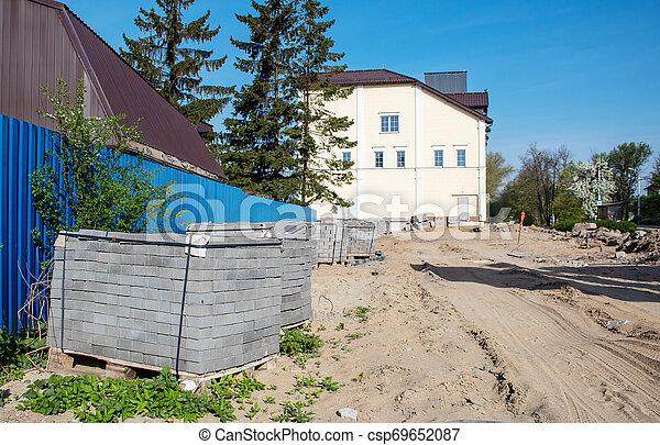 bâtiment, nouveau, construction, bureau - csp69652087
