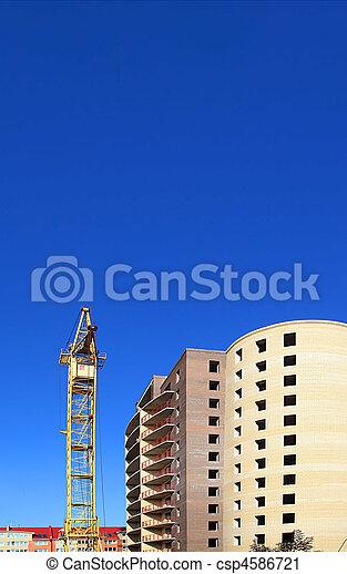 bâtiment, nouveau, construction - csp4586721