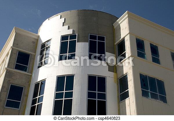 bâtiment, nouveau, haut, bureau, fin - csp4640823