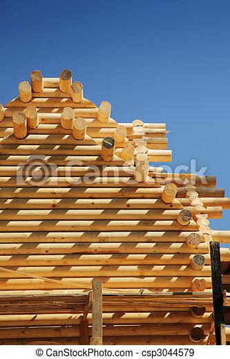 bâtiment, nouveau, loghouse - csp3044579
