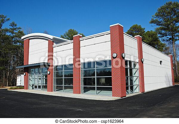 bâtiment, nouveau, moderne, commercial - csp1623964
