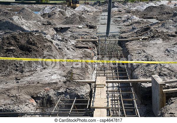 bâtiment, nouveau, site construction - csp4647817