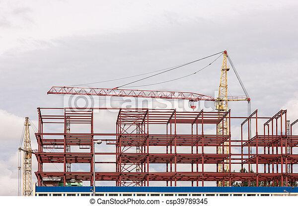 bâtiment, nouveau, site construction - csp39789345