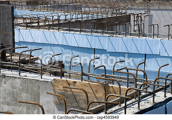 bâtiment, nouveau, site construction - csp4593949