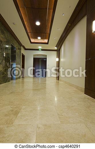 bâtiment, nouveau, vestibule, bureau - csp4640291