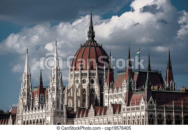bâtiment, parlement, hongrois - csp19576405