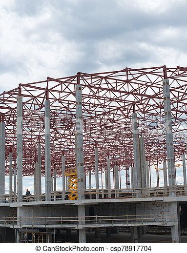 bâtiment, site., construction, nouveau, cadre - csp78917704