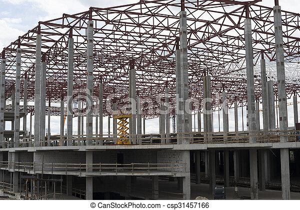 bâtiment, site., construction, nouveau, cadre - csp31457166