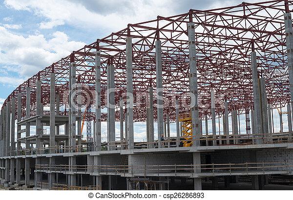 bâtiment, site., construction, nouveau, cadre - csp26286893