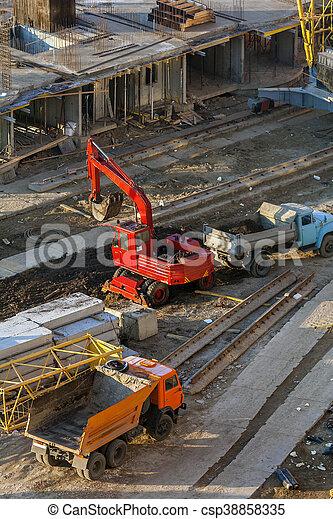 bâtiment, site., machines, fonctionnement - csp38858335