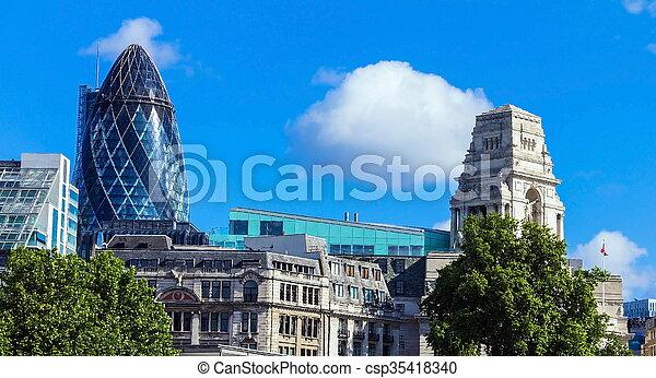 bâtiment, ville, nuages, sur, marie, axe), (30, londres, flotter, rue, cornichon - csp35418340