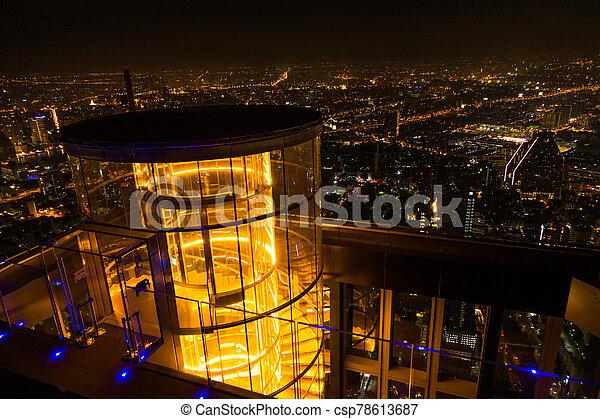 bangkok, vue aérienne, ville - csp78613687