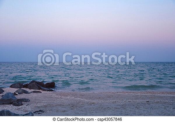 beau, soir, mer - csp43057846