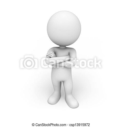 blanc, 3d, gens - csp13915972