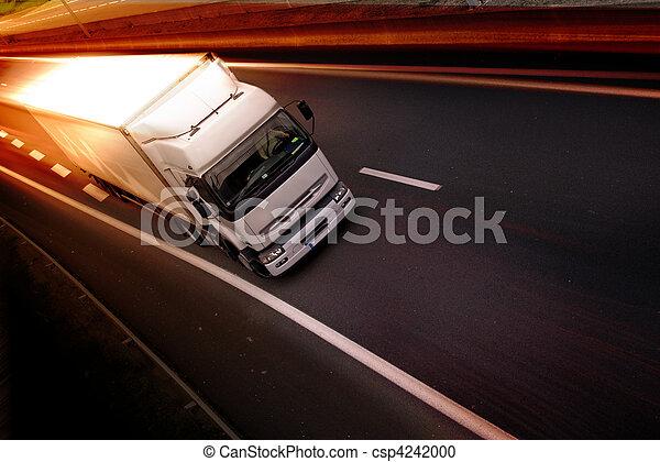 camion, autoroute - csp4242000