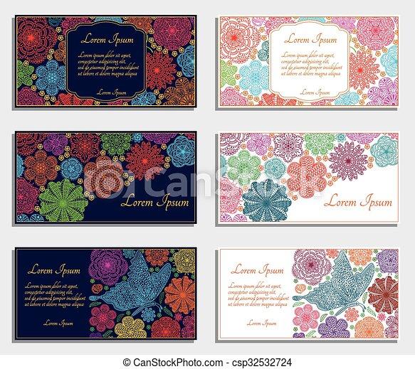cartes, ensemble, invitation - csp32532724