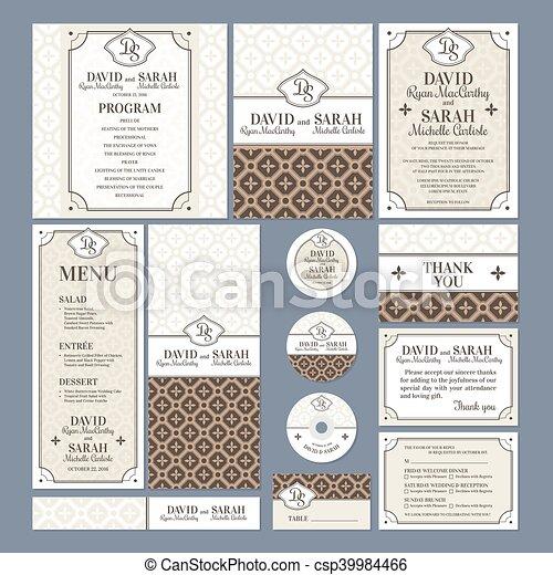 cartes, ensemble, mariage - csp39984466