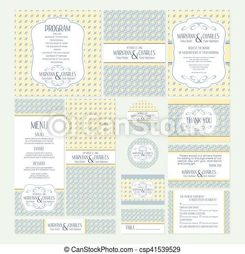 cartes, ensemble, mariage - csp41539529