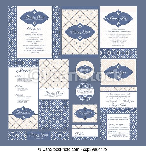 cartes, ensemble, mariage - csp39984479