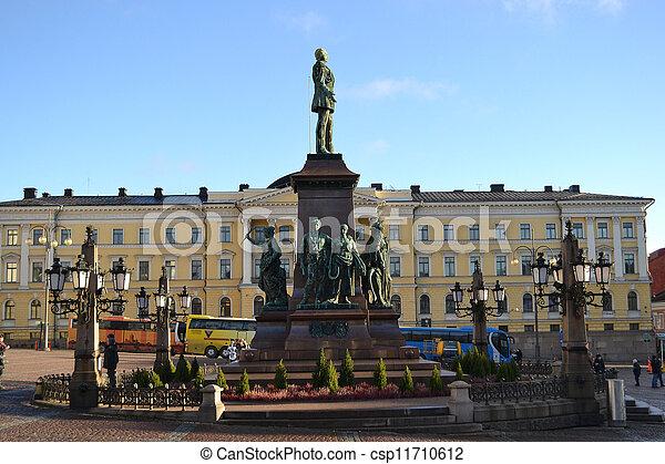 centre, statue, helsinki - csp11710612