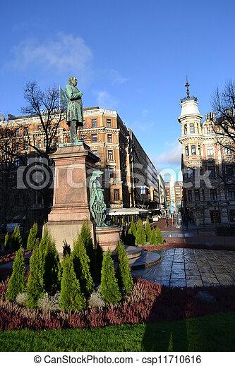 centre, statue, helsinki - csp11710616