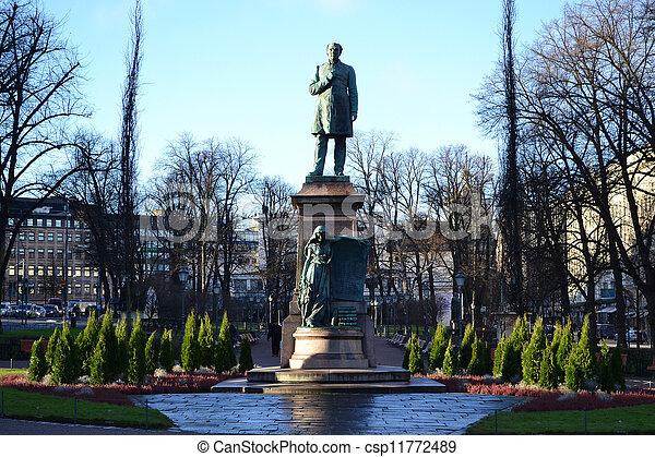 centre, statue, helsinki - csp11772489