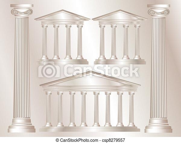 colonnes grecques - csp8279557