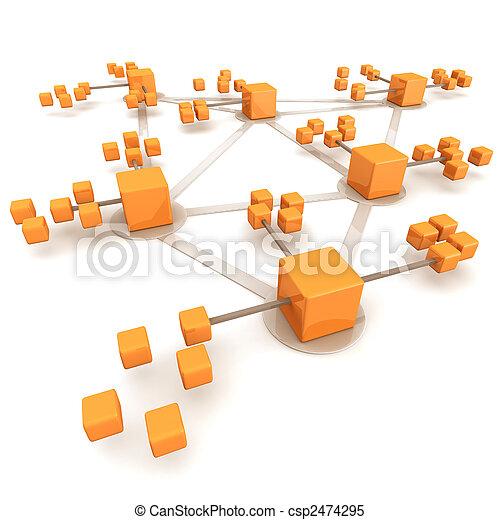 concept, réseau, business - csp2474295