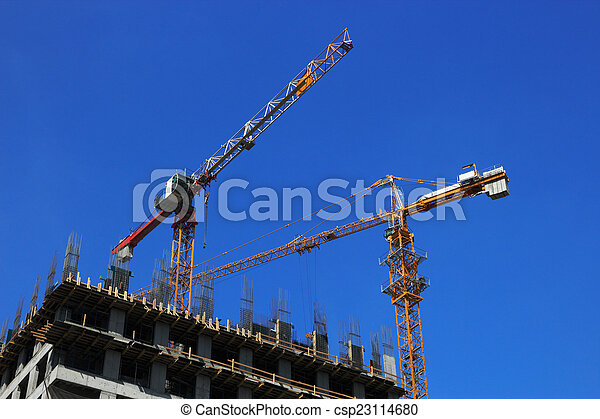 construction bâtiments, bureau - csp23114680