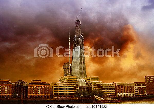 construction bâtiments, moderne, londres - csp10141922